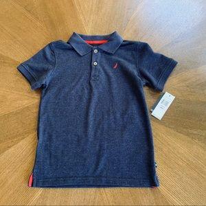 NWT Boys Nautica Polo Shirt Navy 6